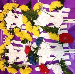 Brand new memorial flowers